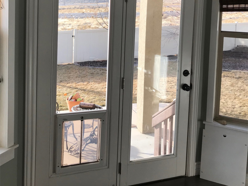 pet door for french door
